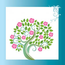 Floral Art Designs Vector Decorate Floral Pink Flower On White Background