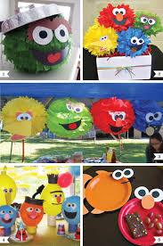 sesame decorations sesame party decor ideas with faces chickabug