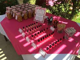 baby shower nail bar u0026 favor table shades of pink nail polish for