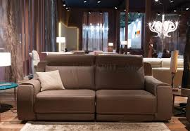 Real Leather Recliner Sofas by Funes 8030 Power Reclining Sofa In Taupe Genuine Leather