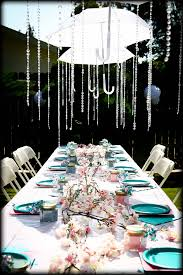 umbrellas showering down crystals for baby shower decor baby
