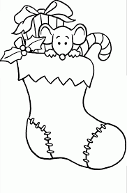 coloring pages christmas stocking coloring