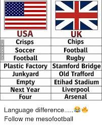 Usa Memes - uk chips football rugby usa crisps soccer football junkyard next