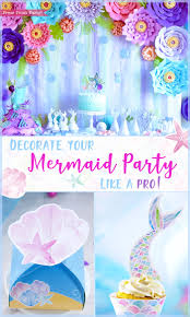 mermaid party supplies decorate your mermaid party like a pro diy by press print party
