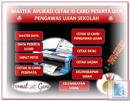 format absensi ujian aplikasi cetak id card peserta dan pengawas ujian format excel xlsx