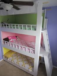 Instructions For Making A Loft Bed by Best 20 Triple Bunk Beds Ideas On Pinterest Triple Bunk 3 Bunk