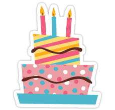 birthday stickers retro birthday cake with candles sticker stickers by mhea redbubble