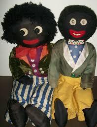 felt golliwog pattern great pair of early vintage black cloth golliwogs dolls dolls