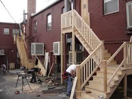 wooden exterior stairs excellent home design modern and wooden