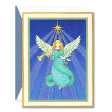 angel christmas card christmas lights decoration