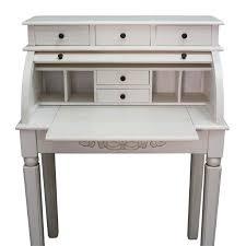 Roll Top Antique Desk International Caravan Windsor Roll Top Desk In Antique White