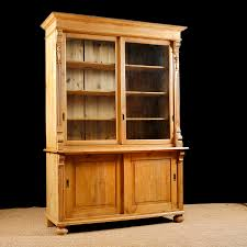 Glass Bookcases With Doors by Antique Bookcase In Pine With Glass Doors C 1890 Bonnin Ashley