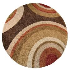 Circle Area Rug Orian Rugs Eclipse Brown 7 Ft 10 In X 10 Ft 10 In Area Rug In The