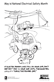 kids coloring page mohave electric cooperative