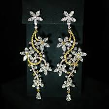 floral diamond earrings flower diamond earrings earrings