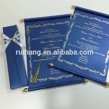 wedding invitations royal blue royal blue scroll wedding invitation card with box buy popular