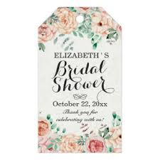 bridal shower favor tags bridal shower gift tags zazzle