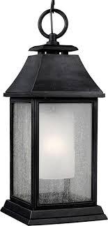 craftsman outdoor pendant light feiss shepherd 1 light outdoor pendant dark weathered zinc see