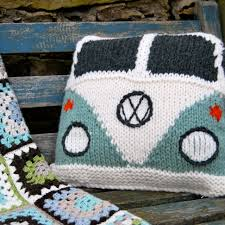 Pillow Designs by Paintbrush Pillow U0026 Afghan Vw Bus Pillows And Crochet