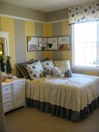 yellow and gray room abc yellow and gray room grey girls rooms moldings and corner beds