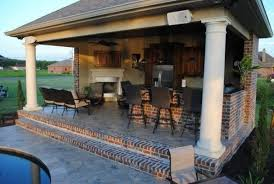 pool and outdoor kitchen designs backyard paradise inground gunite saltwater pool with southern