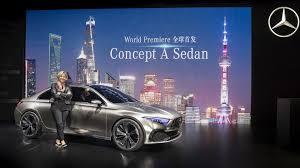 mercedes concept a sedan shows an attractive future in shanghai