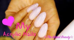 how i do my acrylic nails at home youtube