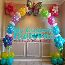 butterfly balloons 12ft linking balloon arch flower and butterfly my custom balloons