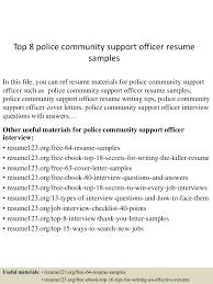 sample police officer resume top8policecommunitysupportofficerresumesamples 150730074329 lva1 app6892 thumbnail 4 jpg cb 1438242266