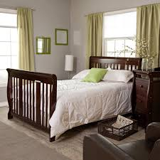 Crib And Bed Combo Nursery Decors Furnitures Tufted Crib Headboard Together With