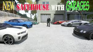 Garage For Cars by Gta 4 Westdyke Safehouse With Garages For 8 Cars House Mod