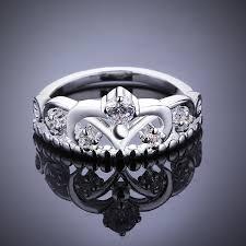 amazon com women u0027s 925 sterling silver gorgeous cz princess crown