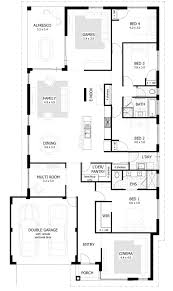 4 bed floor plans uncategorized 4 bedroom house plans for good bedroom single story