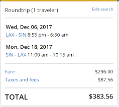 deal alert la to singapore for 384 round trip nonstop