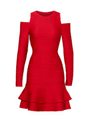 red ottoman jacquard dress by shoshanna for 65 rent the runway