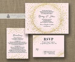 blush and gold wedding invitations blush pink gold glitter wedding invitation rsvp info card 3