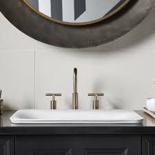 kohler carillon wading pool sink sartorial vitreous china rectangular vessel bathroom sink sinks