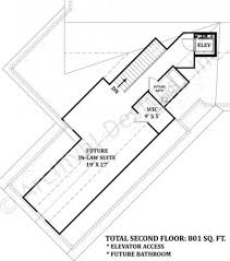 House Plans With In Law Suites Mayberry Place Retirement House Plan In Law Suite