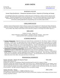 Financial Analyst Resume Template Business Analyst Resume Sample Free Business Analyst Resume