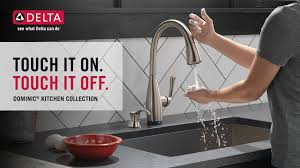 Touch Sensitive Kitchen Faucet Delta Dominic Single Handle Pull Down Sprayer Kitchen Faucet With