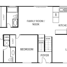 floor plan add on 1 page black and white traditional floor plan up
