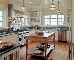 Rustic Farmhouse Kitchens - french country farmhouse kitchen lighting illuminate farmhouse