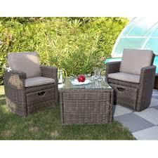 salon de jardin salon de jardin résine cupido brun 2 fauteuils table plantes