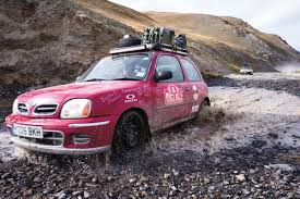 nissan micra rally car the long and winding road 2016 mongol rally geographical