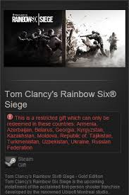Buy Rainbow Six Siege Gold Buy Tom Clancy S Rainbow Six Siege Gold Edition Steam Gift And