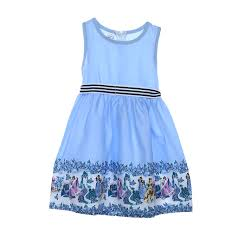 light blue sleeveless dress baby clothes baby girls sleeveless dress kids party