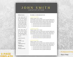 Single Page Resume Template One Page Resume Template Word Resume Cover Letter Templates