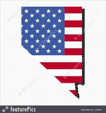 Nevada Map Illustration Of Nevada Map Flag