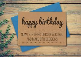 best friend birthday card funny alcohol birthday card card for