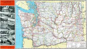 1952 washington state highway map check out more of my sca flickr